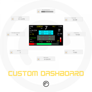Formula steering wheel dashboard custom
