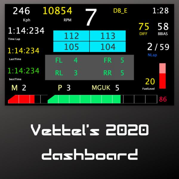Vettel 2020 first view dashboard
